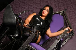 Jasmine jones  on throne with slave. On Throne with slave